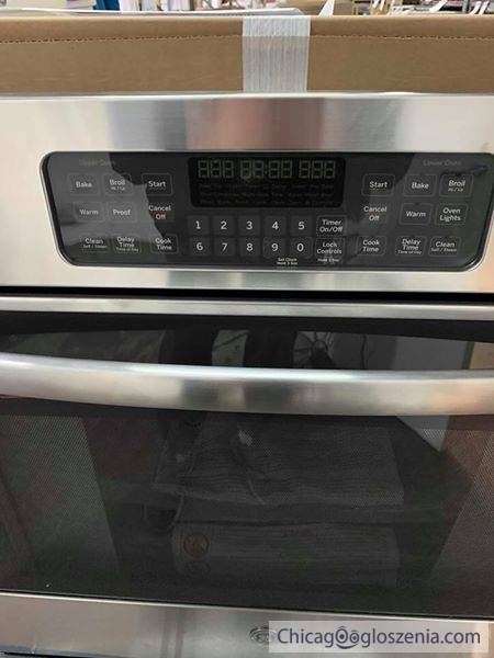 NEW GE 30 in. Double Electric Wall Oven Self-Cleaning with Steam in Stainless Steel